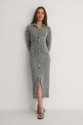 Na-kd Trend Frontdraperet Kjole - Grey