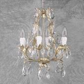Pisa Lysekrone Med 4 Lyskilder, Sølv, Glas