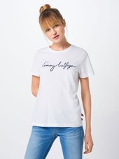 Tommy Hilfiger Shirts 'heritage'  Natblå / Hvid