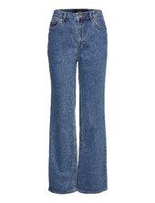 Vmkithy Hr Loose Straight Li368 Ga Lige Jeans Blå Vero Moda