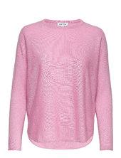 Curved Sweater Strikket Trøje Lyserød Davida Cashmere