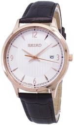 Seiko Classic Herreur Sgeh88p1 Hvid/læder Ø40 Mm