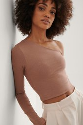 Trendyol One Shoulder Top - Beige
