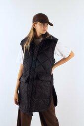 Florenceir Quilt Vest - Black - Irréel - Sort Xs/s