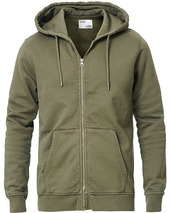 Colorful Standard Classic Organic Full Zip Hood Dusty Olive