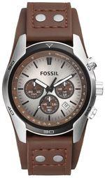 Fossil Casual Herreur Ch2565 Sølvfarvet/læder Ø48 Mm