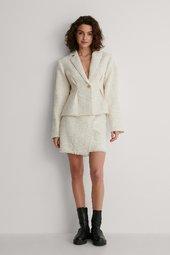 Na-kd Classic Mininederdel I Tweed - Beige