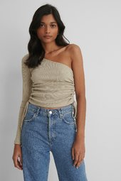 Na-kd Reborn One Shoulder Top - Beige