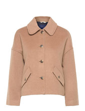 D1. Wool Blend Cropped Jacket Uldjakke Jakke Beige Gant