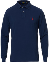 Polo Ralph Lauren Custom Slim Fit Long Sleeve Polo Newport Navy