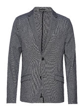 Superflex Knitted Blazer Blazer Jakke Grå Lindbergh