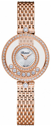 Chopard Happy Diamonds Dameur 209408-5001 Sølvfarvet/18 Karat Rosa