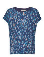 Sicily Tshirt Blouses Short-sleeved Blå Inwear