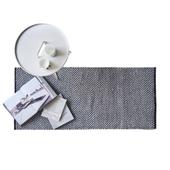 Rain Tæppe Sort/grå 65x135 Cm
