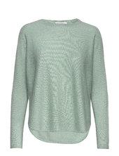Curved Sweater Strikket Trøje Grøn Davida Cashmere