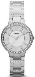 Fossil Virginia Dameur Es3282 Sølvfarvet/stål Ø30 Mm