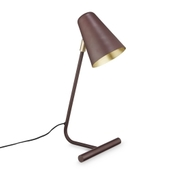 Lampe I Bordeaux Og Messing