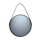 Spejl Med Brun Læder - 40 Cm