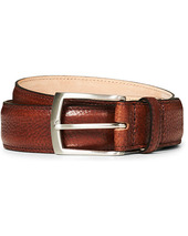Loake 1880 Henry Grained Leather Belt 3,3 Cm Mahogany