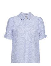 Cuolena Blouse Blouses Short-sleeved Blå Culture