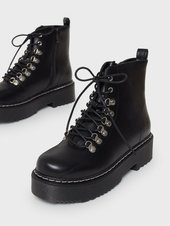 Duffy Low Shaft Lace Boots Flat Boots