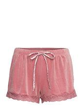 Short Velours Scallop Lace Shorts Flowy Shorts/casual Shorts Lyserød Hunkemöller