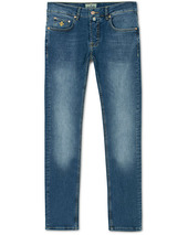 Morris Steeve Satin Stretch Jeans Semi Dark Wash