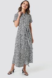 Na-kd Short Sleeve Maxi Dress - Multicolor
