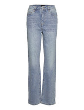 Vmdrew Hr Straight Jeans Lige Jeans Blå Vero Moda