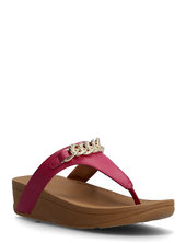 Lottie Chain Toe-thongs Shoes Summer Shoes Flat Sandals Rød Fitflop