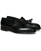 Loake 1880 Russell Tassel Loafer Black Calf