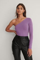 Na-kd One Shoulder Top - Purple