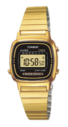 Casio Collection Dameur La670wega-1ef Gul Guldtonet Stål 30.3x24.6 Mm