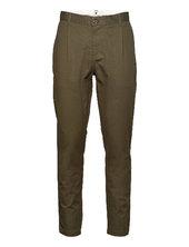 Akjulius Cotton Pleat Pant Chinos Bukser Grøn Anerkjendt