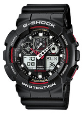 Casio G-shock Herreur Ga-100-1a4er Sort/resinplast Ø51.2 Mm
