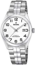 Festina Classic Herreur F20437-1 Hvid/stål Ø40 Mm