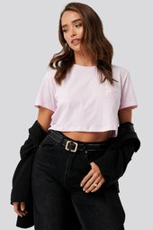Na-kd Flower Cropped Tee - Pink