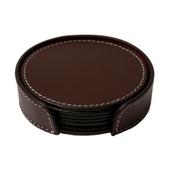 Læder Glasbrikker - Chocolate
