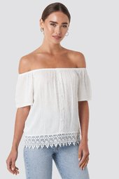Trendyol Bora Off Shoulder Top - White