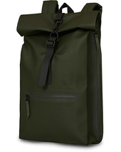 Rains Roll Top Rucksack Green