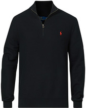 Polo Ralph Lauren Textured Half-zip Black