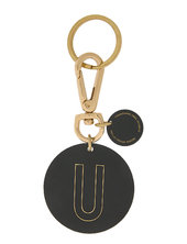 Personal Key Ring & Bagtag Nøglering Sort Design Letters