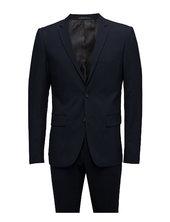 Plain Mens Suit Habit Blå Lindbergh