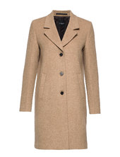 Slfsasja Wool Coat Noos B Uldfrakke Frakke Beige Selected Femme