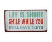 "Magnet 5x10 Cm - ""life Is Short - Smile....."""