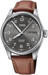 Oris Aviation Herreur 01 752 7760 4063-07 5 22 07lc Grå/læder Ø44