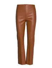 Slkaylee Pu Kickflare Pants Leather Leggings/bukser Brun Soaked In Luxury