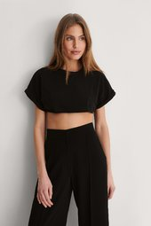 Trendyol Crop T-shirt - Black