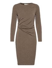 Trude Dress Knælang Kjole Grå Inwear