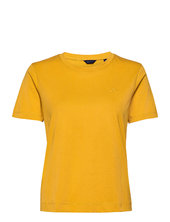 Original Ss T-shirt T-shirt Top Guld Gant